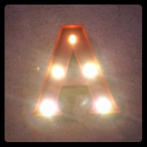 """LED Marquee monogram light up letter """"A"""""""